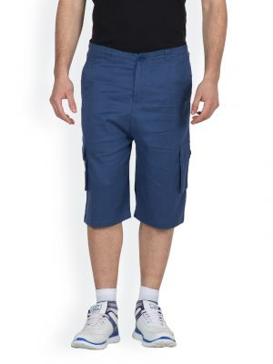Buy Hypernation Royal Blue Color Casual Three Fourth For Men online