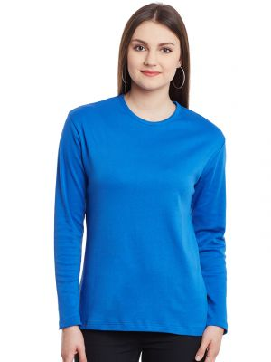 Buy Hypernation Royal Long Sleeves Round Neck Cotton T-shirt Hypw0974 online