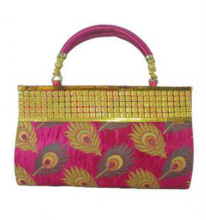 Buy Estoss Pink Party Clutch For Womens online