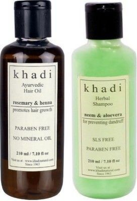 Buy Khadi Ayurvedic Paraben Free Hair Growth Oil With Shampoo Combo (set Of 2) online