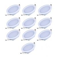 Buy Round Ceiling LED Panel Light - 12 W Combo Of 10 PCs online