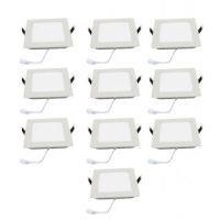 Buy Square Ceiling LED Panel Light - 12 W - Combo Of 10 PCs online