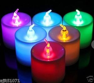 Buy Color Changing Light LED Flickering Battery Operated Candles - (set Of 6) online