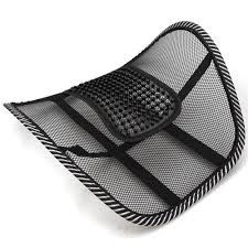 Car Seat Massage Chair Back Lumbar Support Mesh Ventilate Cushion Pad Online Best Prices In India Rediff Ping