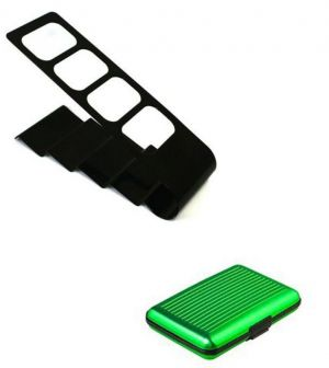Buy Remote Control Holder Stand Organizer With Green Aluma Wallet online