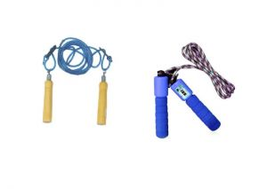 Buy Facto Power Wooden Handle Skipping Rope Plus Counter Skipping Rope online