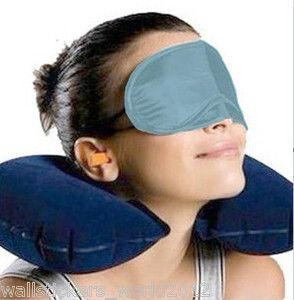 Buy 3 In 1 Travel Set-air Neck Pillow Cushion Car-eye Mask Sleep Rest Shade-ear online