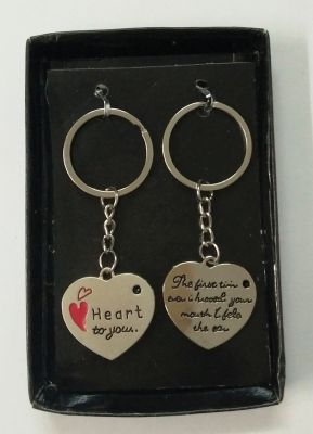 Buy Heart Shape Couple Keychain Best Gift Collectible (bc) online