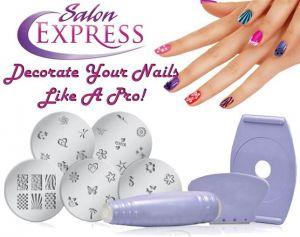 Buy Gadget Hero''s Salon Express Nail Polish Art Decoration Stamping Design Kit online