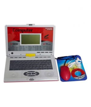 Buy Unic 80 Activities Kids Talking Educational Laptop With Mouse CD Drive Game online