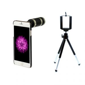 Buy iPhone 6 Telescope 8x Lens With Back Case Mobile Tripod online