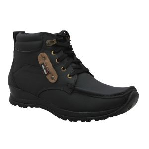 Buy Leather Soft Genuine Leather Casual Black Boots - (code -ls-1001-bk) online