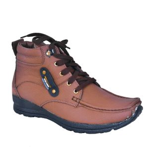 Buy Leather Soft Genuine Leather Casual Brown Boots - (code -ls-1001-br) online