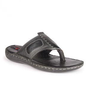 Buy Leather King Genuine Leather Black Formal Slippers - (code -lk-105-10-bk) online