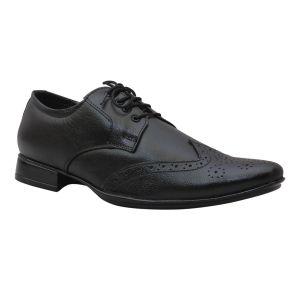Buy Leather King Genuine Leather Black Formal Shoes - (code -lk-ka-01-bk) online
