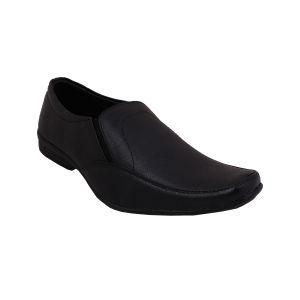 Buy Leather Soft Genuine Leather Black Formal Shoes - (code -ls-rk-09-bk) online