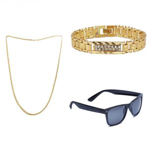 Buy Sondagar Arts Latest Bracelet Chain Glares Combo Offers For Men online
