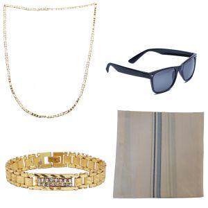 Buy Sondagar Arts Latest Bracelet Chain Glares Handkerchief Combo Offers For Men online