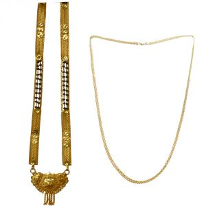 Buy Sondagar Arts Latest Mangalsutra Chain Combo Offers For Women Csaj017 online