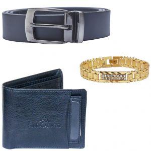 Buy Sondagar Arts Latest Belts Wallet Bracelet Combo Offers For Men online