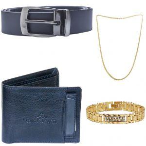 Buy Sondagar Arts Latest Belts Wallet Chain Bracelet Combo Offers For Men online