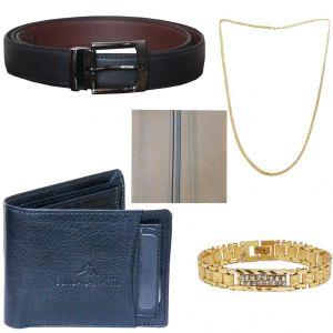 Buy Sondagar Arts Latest Belts Wallet Chain Bracelet Handkerchief Combo Offers For Men online