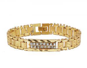 Buy Sondagar Arts Mens Gold Color Bracelet online