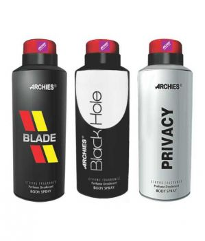 Buy Archies Deo Black Is Black & Privacy & Black Hole online