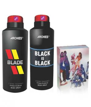 Buy Archies Deo Blade & Black Is Bkack + Perfume City Gang-(code-vj636) online