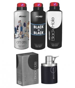 Buy Archies Deo City Gang & Black Is Bkack & Black Hole   Perfume Black Hole online