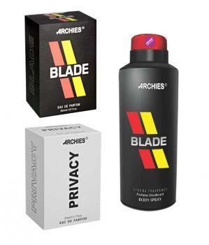 Buy Archies Perfume Blade & Privacy & Deo Blade-(code-vj728) online