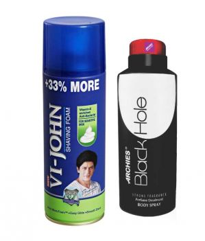 Buy Archies Deo Black Hole & Vijohn Shave Foam 400Gm For Sensitive Skin online