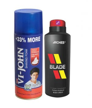 Buy Archies Deo Black Is Black & Vijohn Shave Foam 400gm For Hard Skin-(code-vj778) online