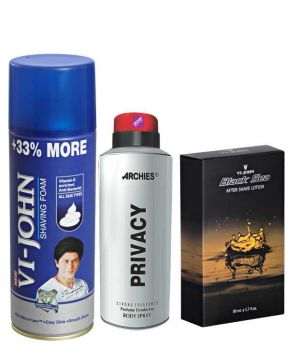 Buy Archies Deo Privacy & Vijohn Shave Foam 400Gm For All Type Of Skin & After Shave Black Sea online