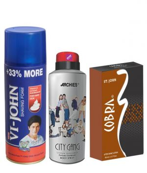 Buy Archies Deo City Gang & Vijohn Shave Foam 400Gm For Hard Skin & After Shave Cobra online