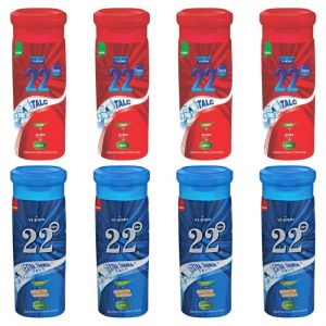 Buy Pack Of 6 Talc 22 Degree Extra Thhanda & 22 Degree Gulab online