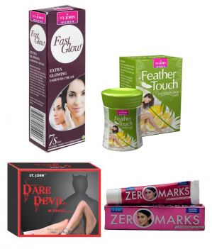Buy St.Johnvijohn Women Care Kit (Hair Remover Lime & Fast Glow Fairness Cream & Body Butter & Perfume Dare Davil) online