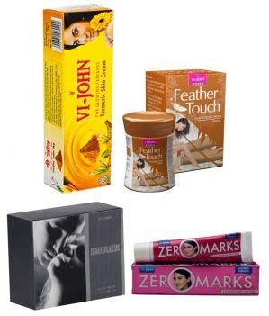 Buy St.john-vijohn Women Care Kit (hair Remover Sandal & Turmeric Cream Fairness Cream & Body Butter & Perfume Embrace)-(code-vj464) online