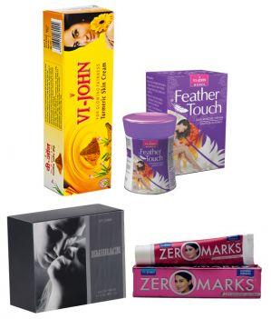 Buy St.john-vijohn Women Care Kit (hair Remover Honey/saffron & Turmeric Cream Fairness Cream & Body Butter & Perfume Embrace)-(code-vj465) online