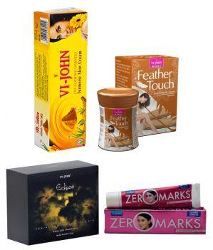 Buy St.john-vijohn Women Care Kit (hair Remover Sandal & Turmeric Cream Fairness Cream & Body Butter & Perfume Eclips)-(code-vj468) online
