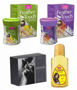 Buy St.john-vijohn Feather Touch Hair Removal Cream (lime & Honey Saffron) 40gm& Perfume Embrace 50ml & Almond Hair Oil 50ml-(code-vj482) online