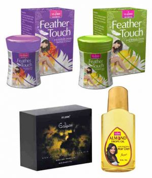 Buy St.Johnvijohn Feather Touch Hair Removal Cream (Lime & Honey Saffron) 40Gm& Perfume Eclips 50Ml & Almond Hair Oil 50Ml online