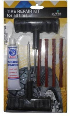 Buy Fire Storm Car Bike Auto Tubeless Tyre Puncture Plug Repair Kit - Easy To Use online