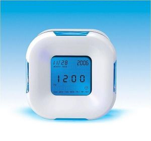Buy Four Sided Backlight Colour Changing Table Alarm Clock online