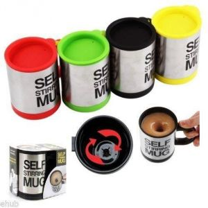 Buy 2 PCs Self Stirring Mug With Lid For Coffee Tea Juices online