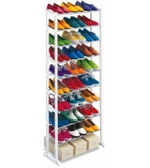 Buy Amazing Shoe Rack Portable With 10 Layer Holds Approx 30 Pairs Shoes online