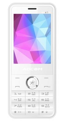 Buy Adcom 501 Dual Sim Mobile- White online