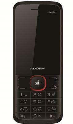 Buy Adcom Aqua 201 Dual Sim Mobile Phone_ Black & Red online
