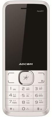 Buy Adcom Aqua 201 Dual Sim Mobile Phone_ White & Silver online