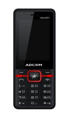 Buy Adcom Aqua 221 Dual Sim Mobile Phone_ Black & Red online